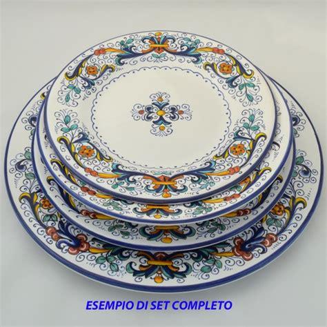 piatti da tavola piatto da tavola fondo ricco deruta da cm 24 maioliche