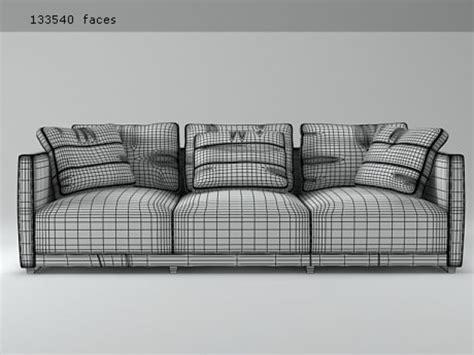 Sketch Sofa 3d Model Ligne by Sketch Sofa Modello 3d Ligne Roset
