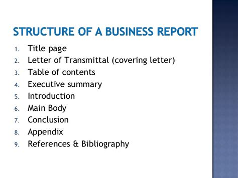 Letter Report Of Title Business Report Writing