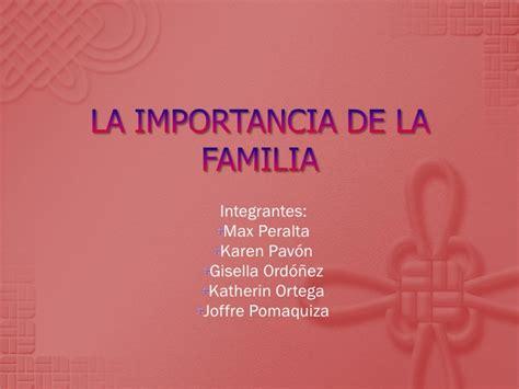 host la importancia de la importancia de la familia