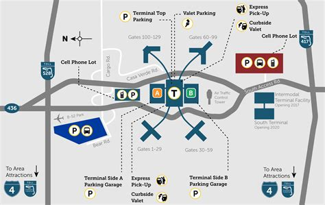 mco map orlando airport parking guide find great mco airport parking