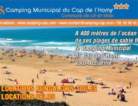 Camping Municipal du Cap de l'Homy a LIT ET MIXE   Campings 3 étoiles