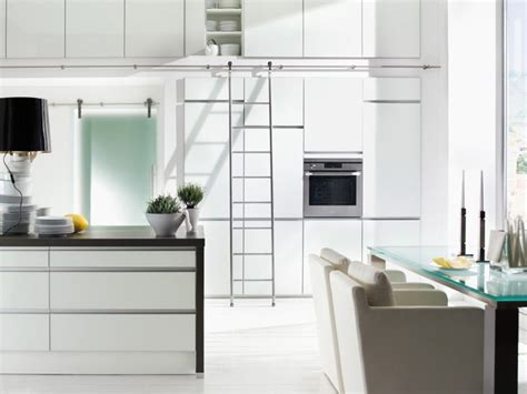 Kitchen Ladder by Mwe Sliding Ladders With Auto Stop Function Modern