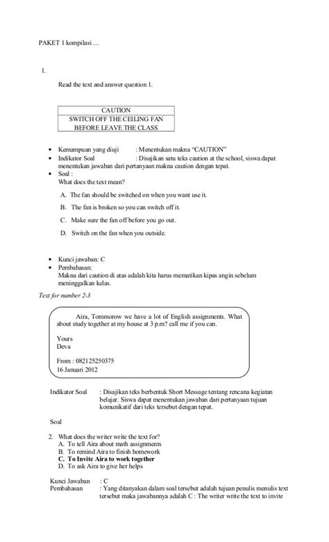 contoh biography text dan soal invitation soal dan jawaban choice image invitation