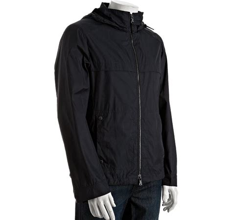 Prada Jacket Blue prada navy blue snap cuff windbreaker jacket in black for navy lyst