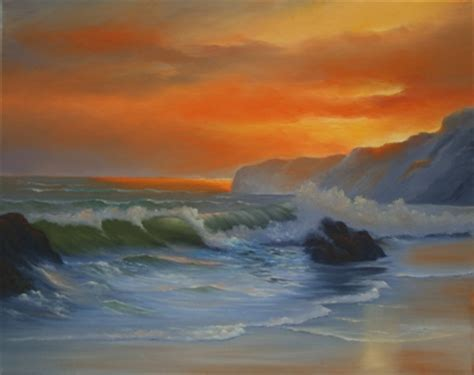 bob ross painting seascape gallery mikesartworld