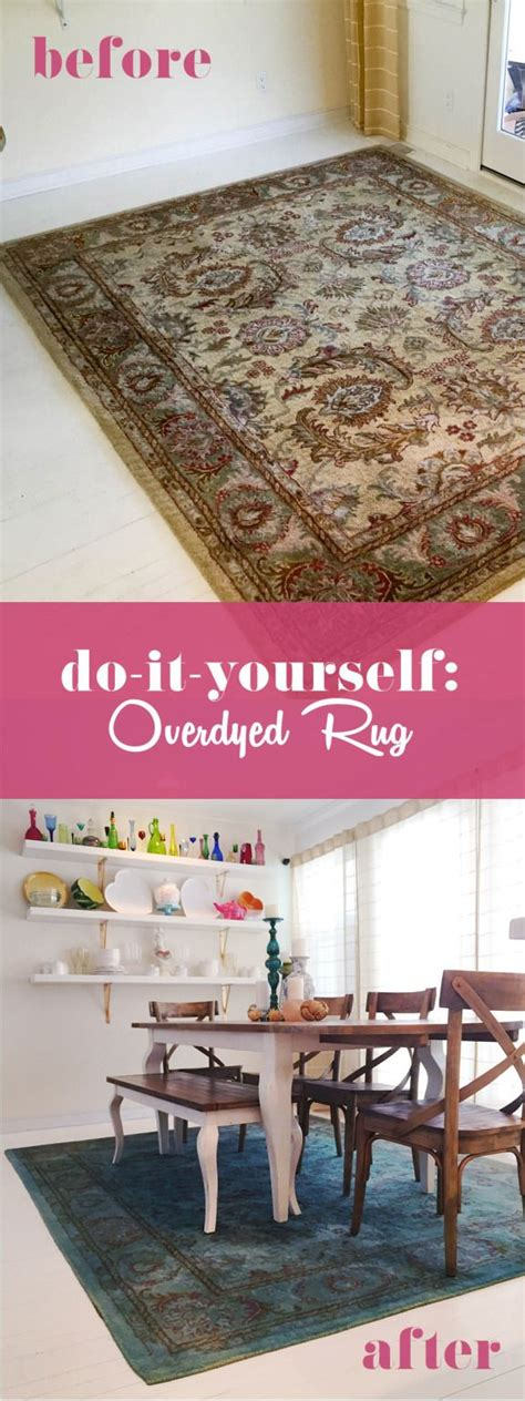 Diy Area Rug From Fabric Overdyed Rug With Rit Fabric Dye Diy Connecticut House Fabric Dye Dyes And Rugs