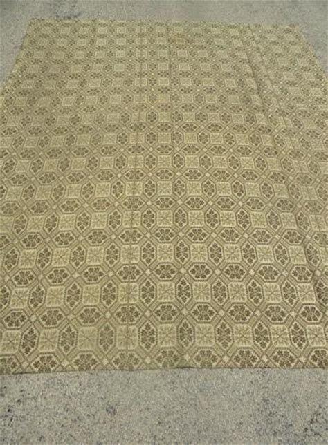 wool coverlet antique woven wool coverlet fabric vintage pieced cloth
