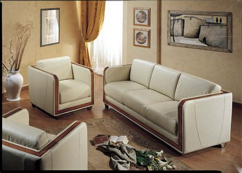 Leather And Fabric Sofa Sets Traditional Leather Sofa Set Melange Traditional Leather Fabric Wood Trim Tufted Sofa Set By