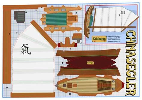 Boat Papercraft - sailing boat by german site kakibogen r 7