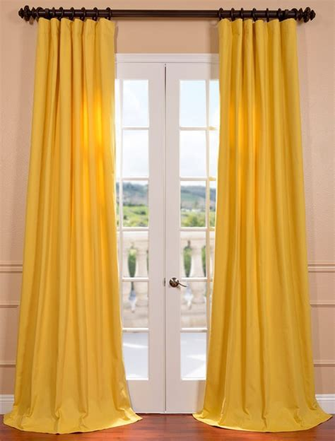 Mustard Yellow Cotton Twill Curtain Alice And The Top