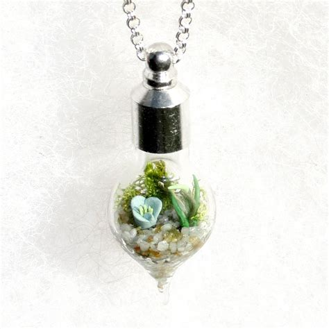 Terrarium Jewelry by Holiday Gift Botanical Jewelry Glass Terrarium Necklace