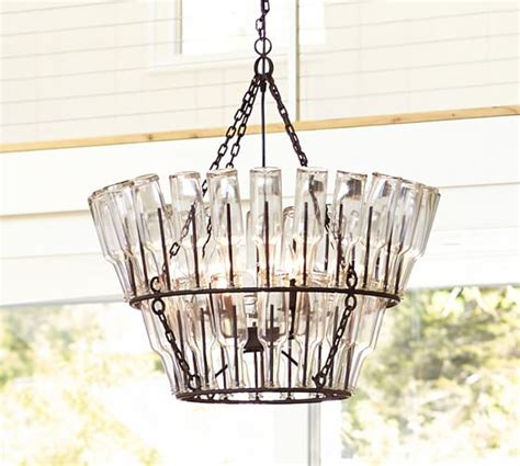 pottery barn wine glass chandelier bottle chandelier pottery barn