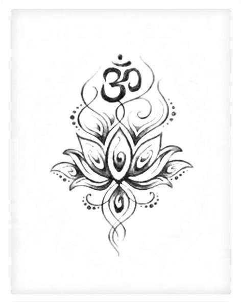 lotus flower with om tattoo designs best 20 white flower tattoos ideas on black