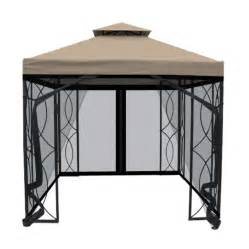 8x8 Gazebo Canopy Replacement Lowes by Garden Treasures 8 Ft X 8 Ft Steel Gazebo With Net Lowe