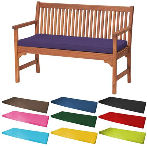 cushions for outdoor benches outdoor waterproof 2 seater bench swing seat cushion only garden furniture pad ebay