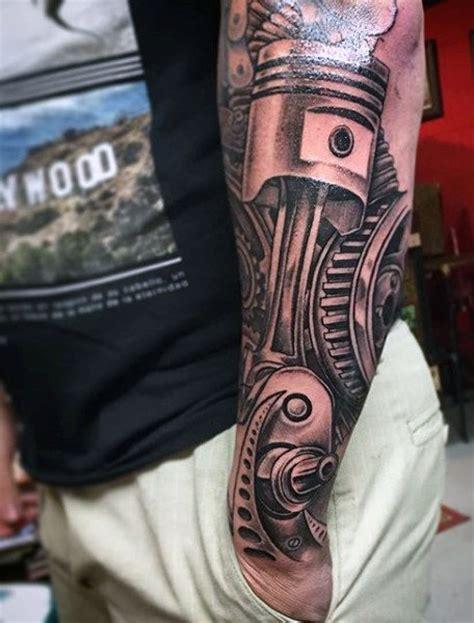 mechanic tattoos piston internal combustion piston ideas for men s tattoos