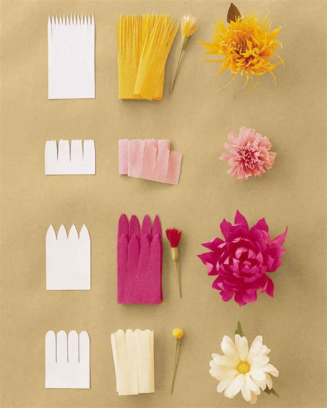 paper flower templates martha stewart how to make crepe paper flowers martha stewart