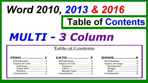 beaufiful table of contents template word 2013 pictures