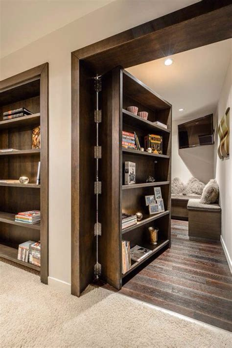 sweet secret room bookcase door home architecture