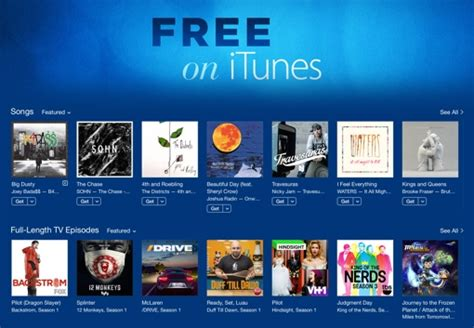 Itunes Free Section by Apple Adds A Free On Itunes Section For Songs And Tv