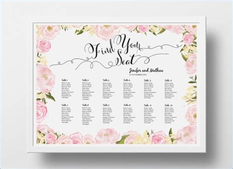 wedding seating chart poster template powerpoint seating chart template pontybistrogramercy