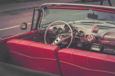 classic car upholstery supplies classic red car interior transportation photos on