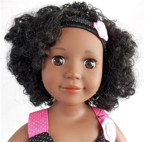 black doll with hair curly hair doll hair black doll like