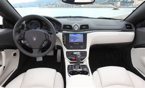 maserati grancabrio sport interior car and driver