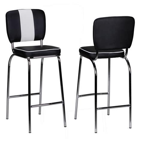 american diner bar stools wohnling barstool american diner 50s retro black white bar