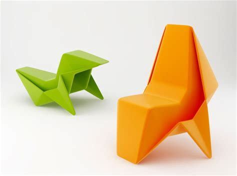 Designer Origami - my chair is part of a yanko design