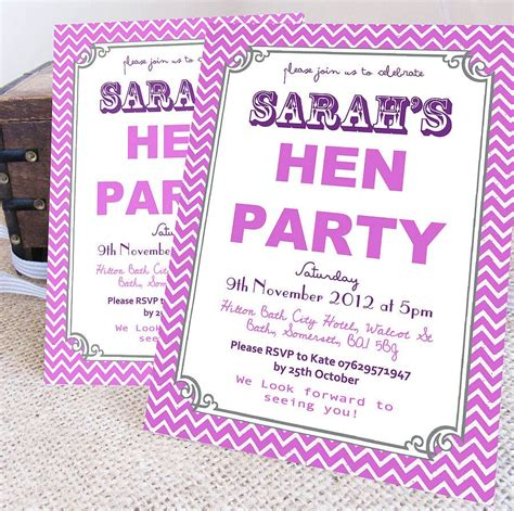 templates for hens night invitations free personalised hen party wreath invitations hens party