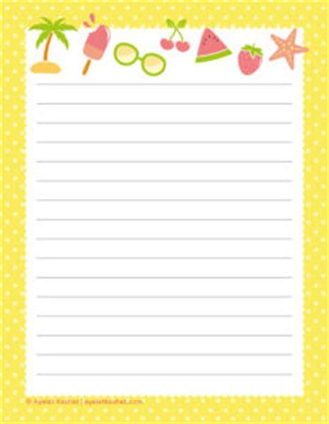 printable writing paper summer free printable writing paper ayelet keshet
