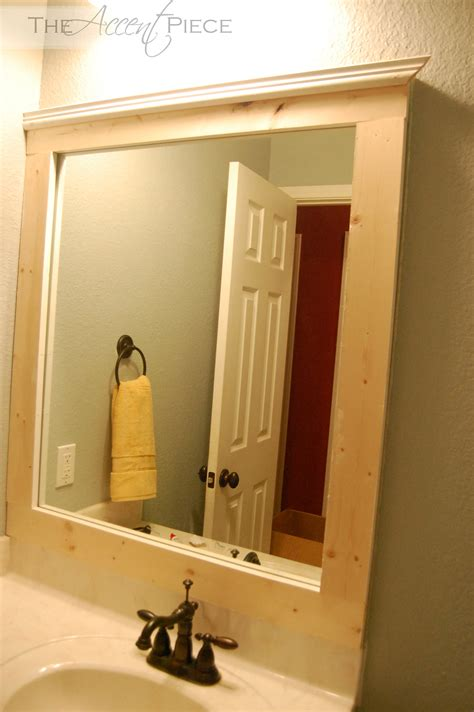 diy bathroom mirror frame framed bathroom mirror diy