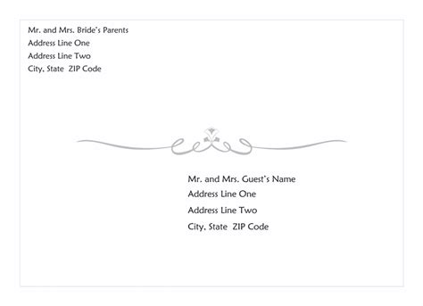 envelope template word 2013 wedding invitation envelope scroll design