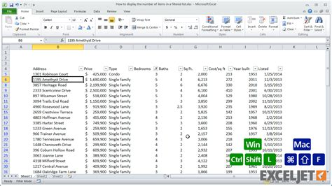 tutorial excel subtotal excel tutorial how to count items in a filtered list with
