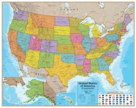 united states on the map wall map of the united states laminated just 19 99
