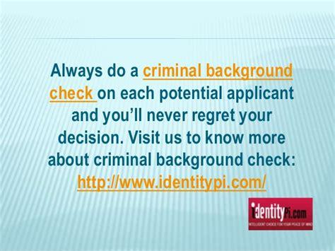 Pre Employment Criminal Background Check Pre Employment Criminal Background Check