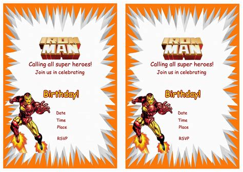 Similiar Iron Man Party Invitations Keywords