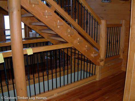 Stair Rails And Banisters Watts Bar Log Home Gallery Custom Timber Log Homes