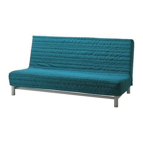 futon bettsofa beddinge sofa bed slipcover knisa turquoise ikea