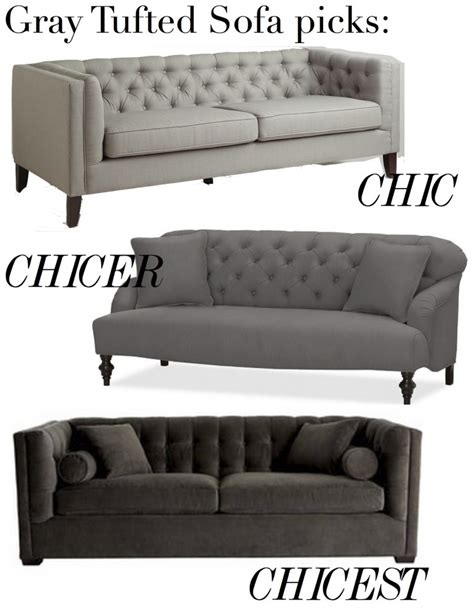 gray leather tufted sofa tufted sofa gray images