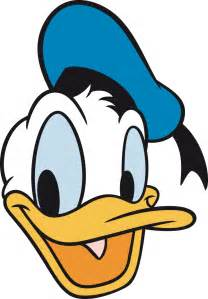 a donald duck head with leatering tattoo com