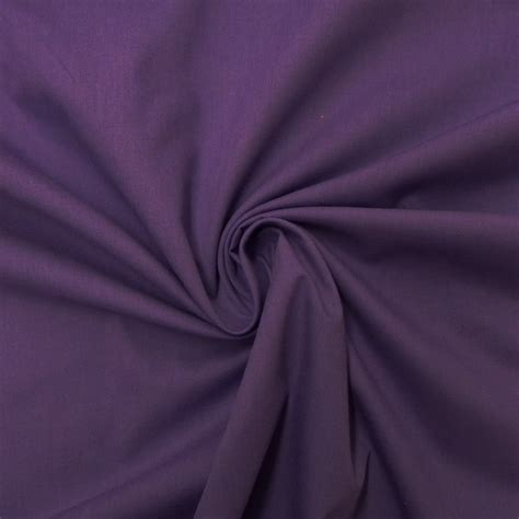 purple plain poplin fabric closs hamblin