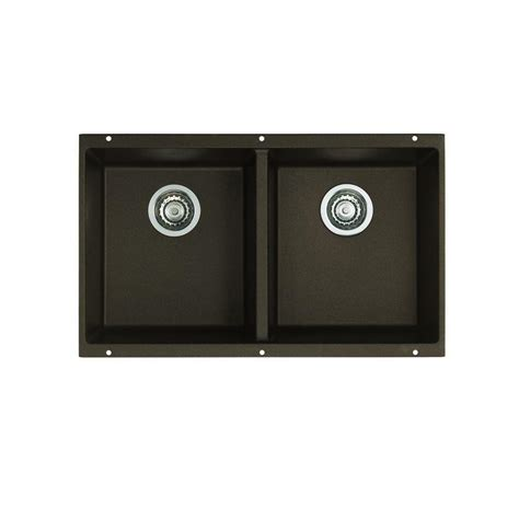 blanco granite kitchen sinks blanco precis undermount granite composite 29 75 in equal