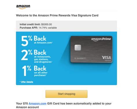 amazon credit card amazon prime visa signature card approved myfico