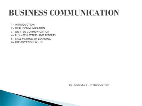 patterns of business communication ppt business communication in ppt authorstream