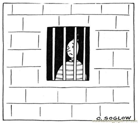 printable games for jail man in the prison coloring page free buildings coloring