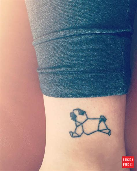 black amp grey pug tattoos on legs pug tattoo picture