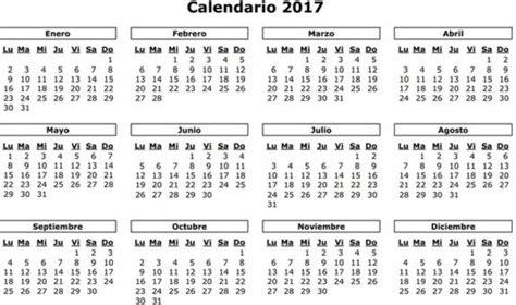 Calendario 2017 Puentes Festivos Puentes Y Macropuentes De 2017 Calendario